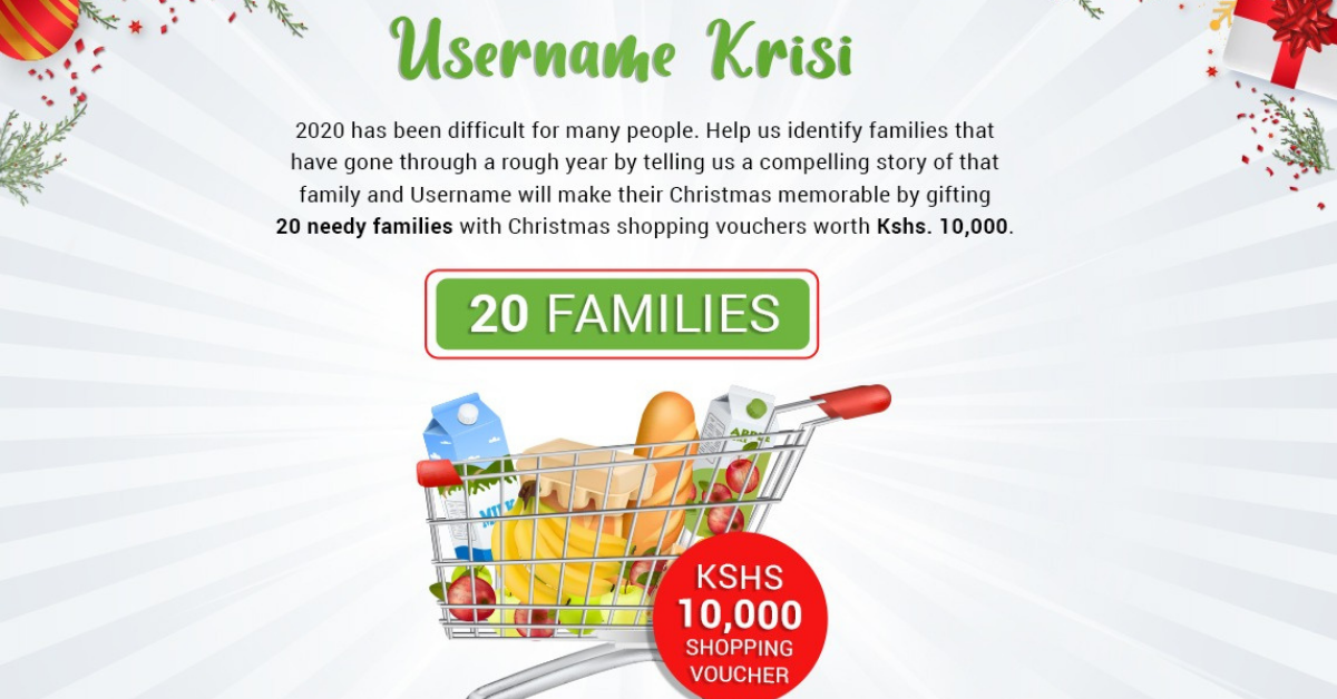 Username Properties Gift needy families with Ksh 10,000 as shopping vouchers