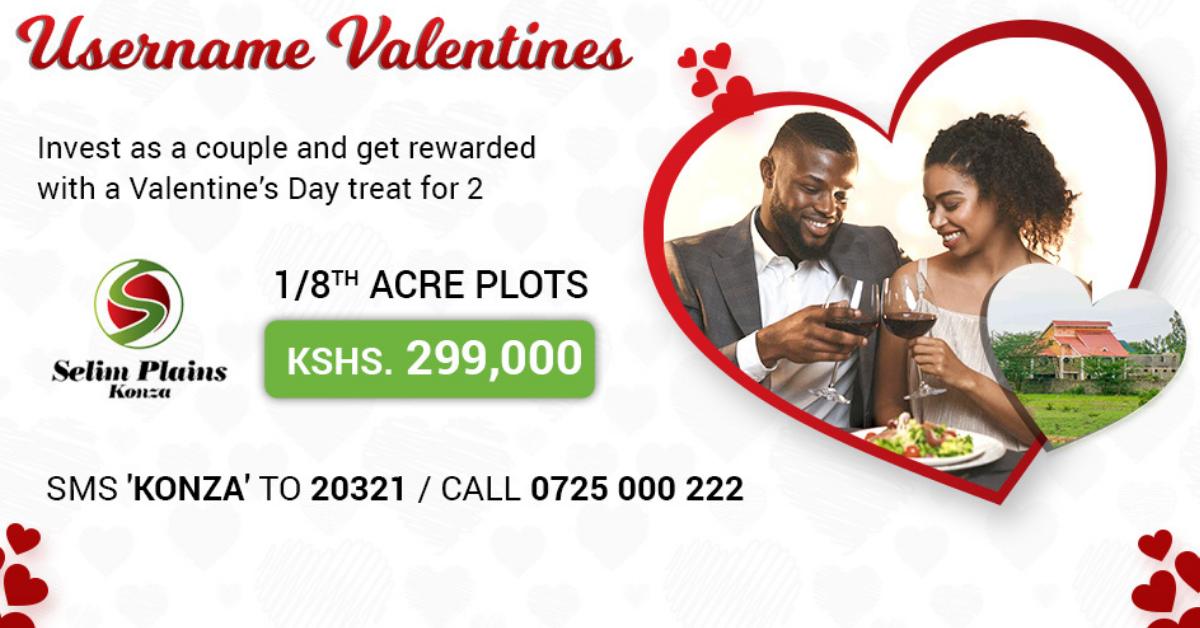 Username properties gift couples who buy plot in selim Plains Konza